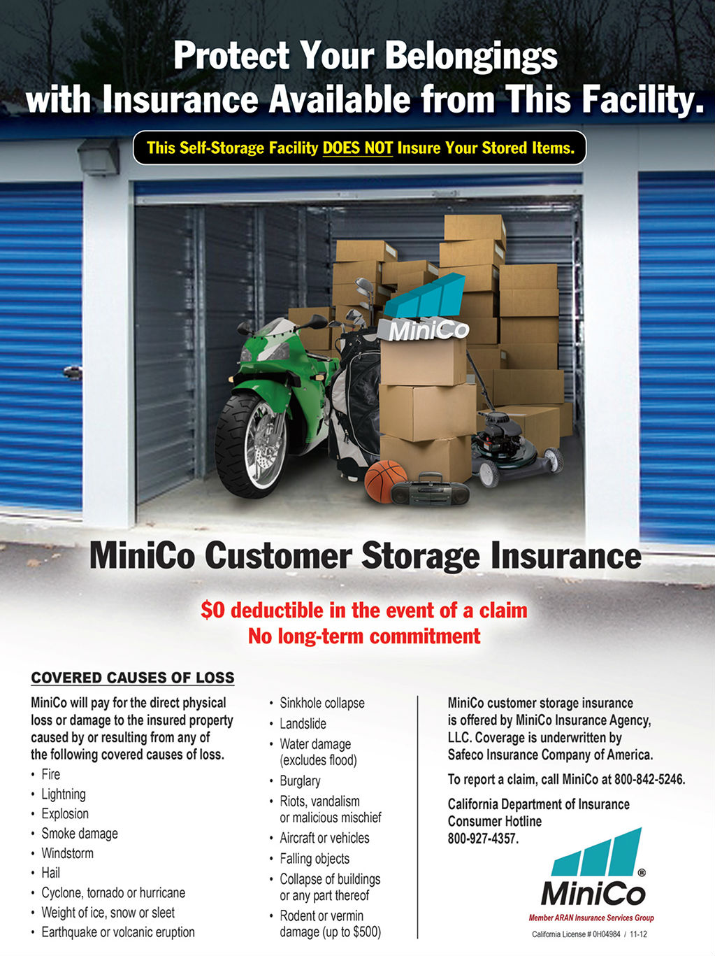 Tenant Insurance | Westside Road Storage